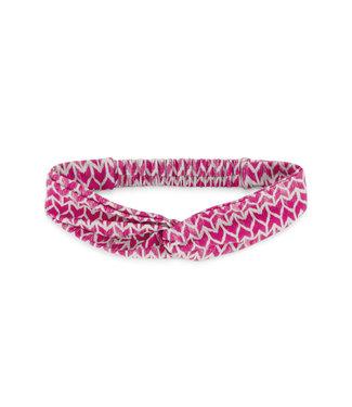 MAYCE Girlslabel Meisjes haarband - Donker roze AOP