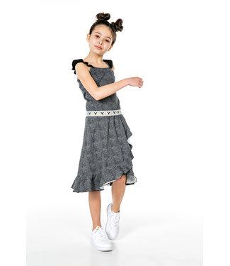 MAYCE Girlslabel Meisjes jurk - Stone AOP