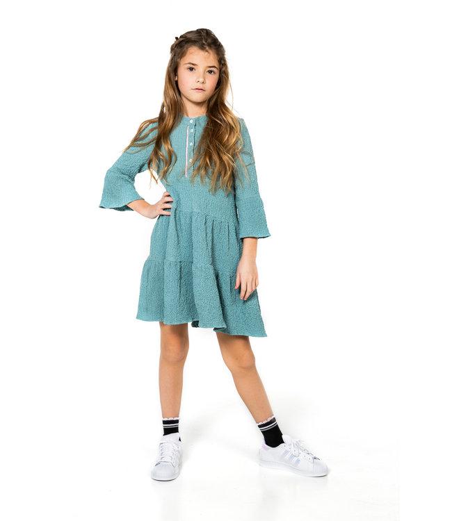 MAYCE Girlslabel Meisjes jurk - Stone Mint