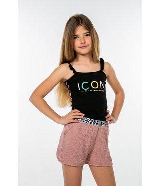 MAYCE Girlslabel Meisjes top - Zwart