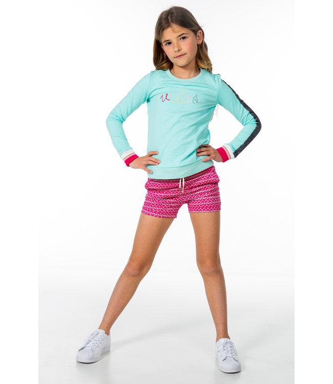 MAYCE Girlslabel Meisjes sweater - Licht mint