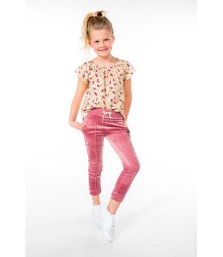 MAYCE Girlslabel Meisjes broek - Oud roze