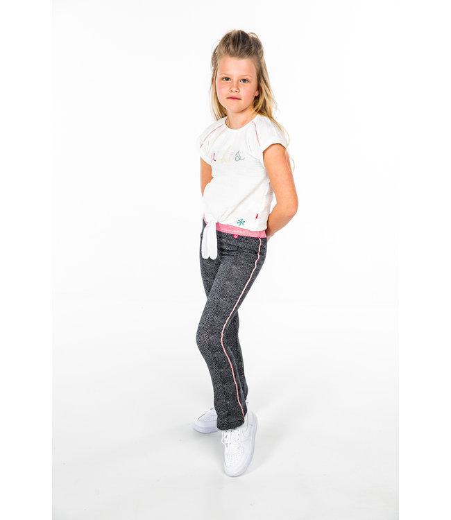 MAYCE Girlslabel Meisjes broek - Stone AOP