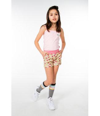 MAYCE Girlslabel Meisjes short - Geel bloemen AOP