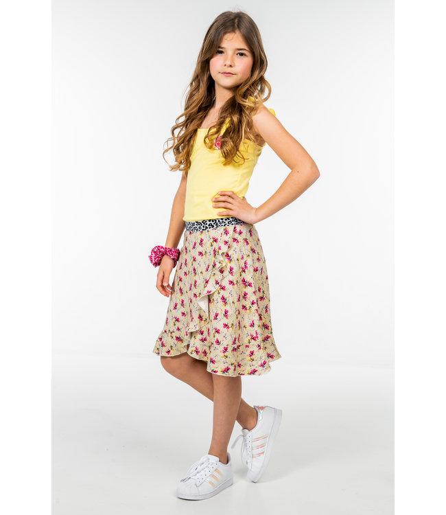 MAYCE Girlslabel Meisjes jurk - Licht geel