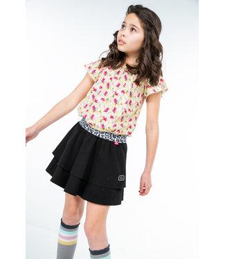 MAYCE Girlslabel Meisjes blouse - Geel bloemen AOP
