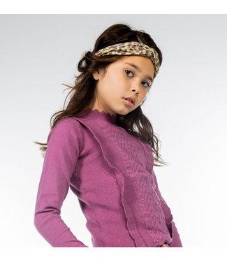 MAYCE Girlslabel Meisjes trui gebreid - Violet