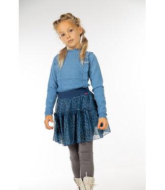 MAYCE Girlslabel Meisjes trui gebreid - Blauw