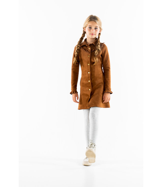 MAYCE Girlslabel Meisjes jurk - Suede