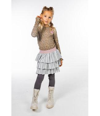 MAYCE Girlslabel Meisjes jurk - Animal bruin