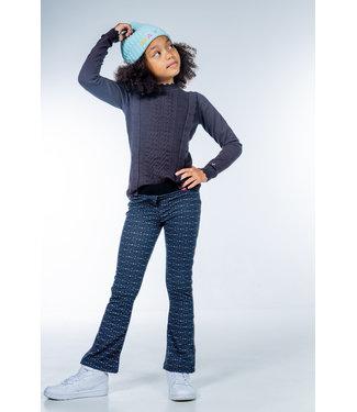 MAYCE Girlslabel Meisjes flair broek - African stone