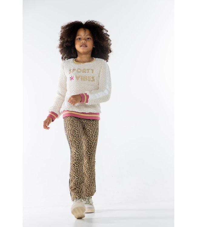 MAYCE Girlslabel Meisjes flair broek - Animal bruin