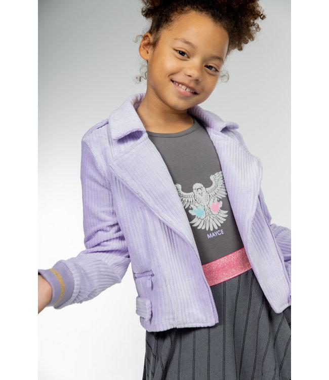 MAYCE Girlslabel Meisjes jasje sweat - Lavender