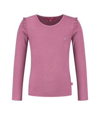 MAYCE Girlslabel Meisjes shirt - Violet