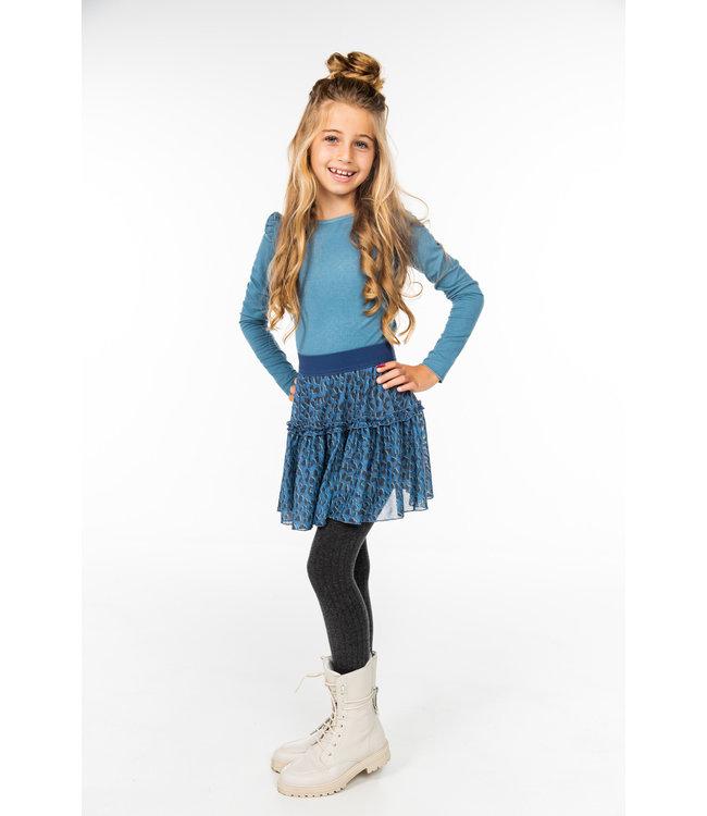 MAYCE Girlslabel Meisjes shirt - Blauw