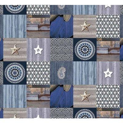 Tafelzeil Andalouse Blauw