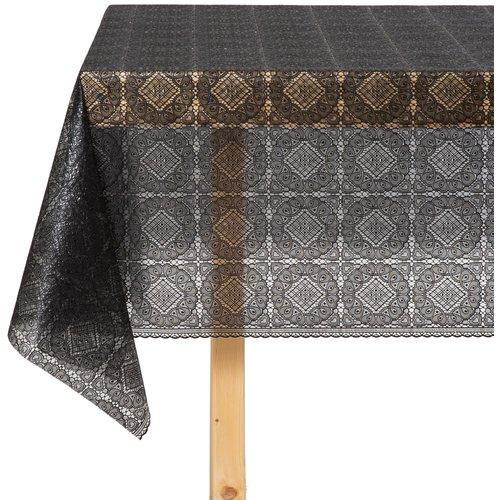 Tafelzeil Kant Blok Zwart