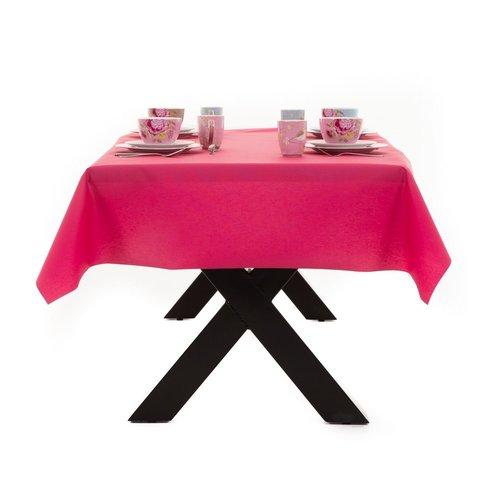 Gecoat Tafellinnen Maly Magenta Roze Effen 160CM
