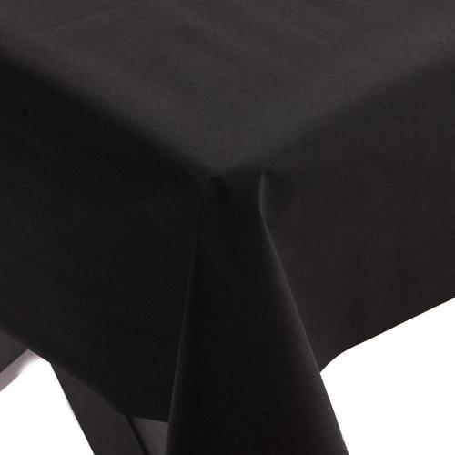 Gecoat Tafellinnen Maly Zwart Effen 160CM