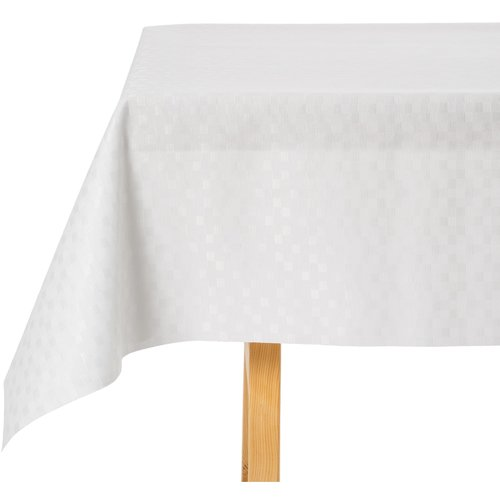 Gecoat Tafellinnen Blokjes Wit
