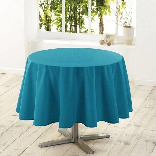 Tafelkleed Rond Essential Aqua Ø180CM