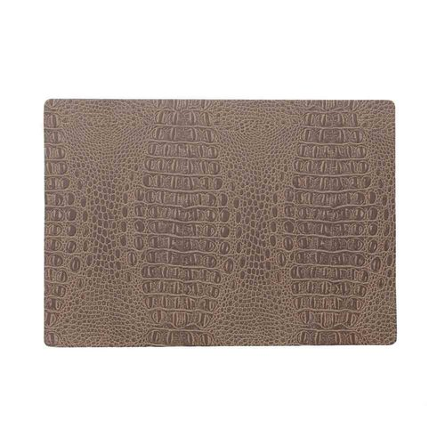 Placemat Croco Bruin