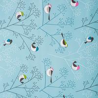 Gecoat Tafelkleed Vogel Blauw