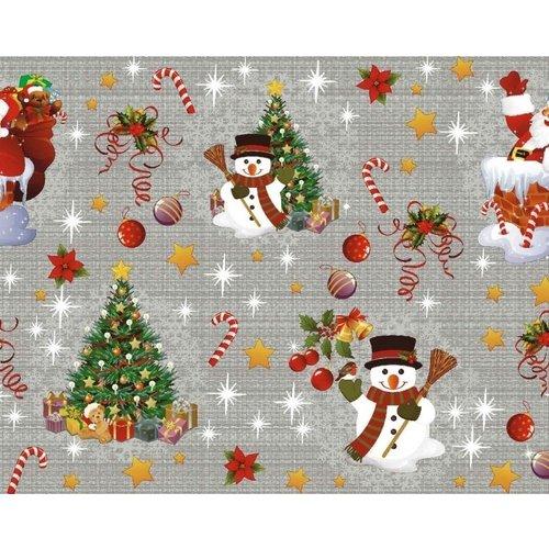 Tafelzeil Kerst Donker Grijs