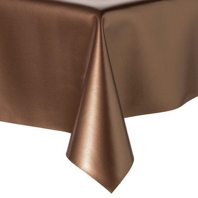 Tafelkleed Kunstleer Metallic Koper 140 CM