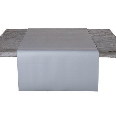 Tafelloper Kunstleer Grijs 45 x 140 CM