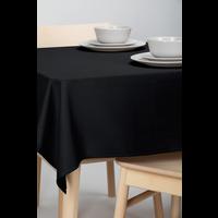 Tafelkleed Dordogne Effen Zwart 140 x 250 CM