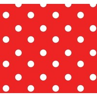 Tafelzeil Stip Rood
