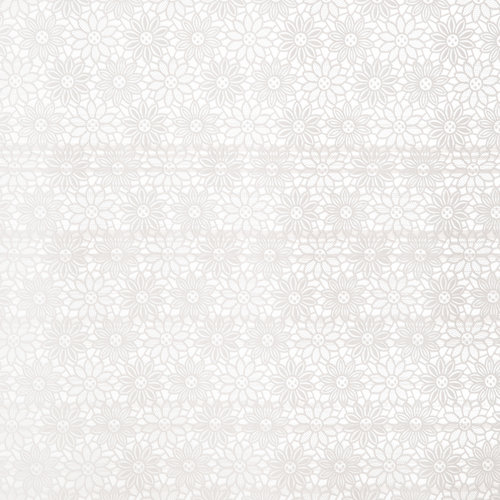 Tafelzeil Kant Bloem Licht Wit