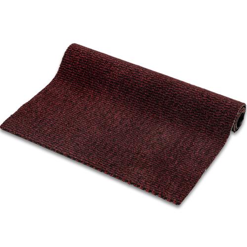 Droogloopmat Deurmat Faro Zwart - Rood Op Maat - 8 mm Dik 113 cm Breed
