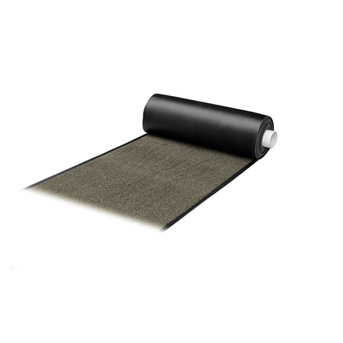 Droogloopmat Deurmat Faro Op Maat Zwart - Beige - 8 mm Dik 113 cm Breed