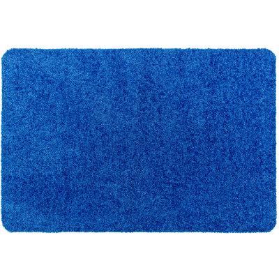 Droogloopmat Deurmat Washclean Donker Blauw - 9mm Dik