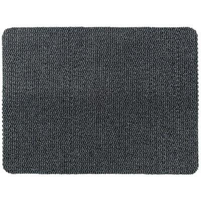 Droogloopmat Deurmat Zwart - Grijs - 8 mm Dik