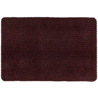 Droogloopmat Deurmat Zwart - Rood - 8 mm