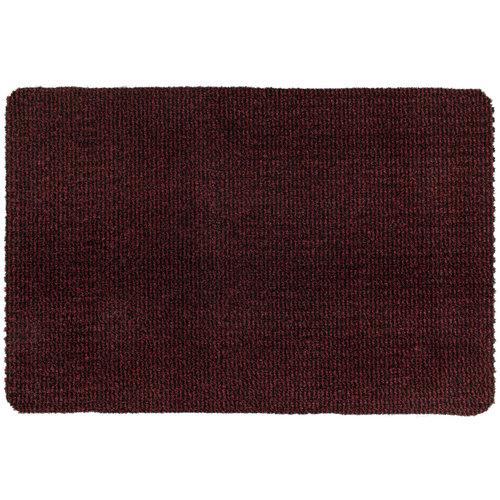 Droogloopmat Deurmat Zwart - Rood - 8 mm Dik