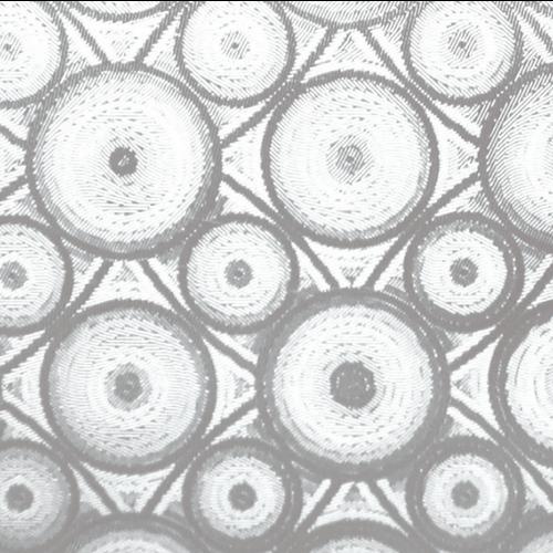 Raamfolie Statisch 2D Embossed 90CM Breed - Cirkels