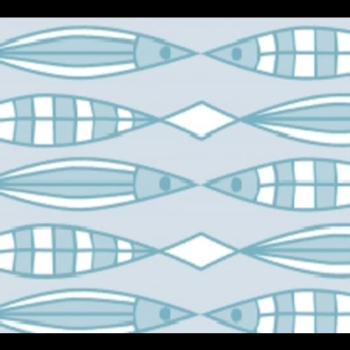 Raamfolie Statisch 2D print 90CM Breed - Vissen