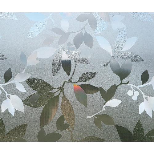 Superwoonwinkel Raamfolie Statisch Bloemen- 92 CM breed