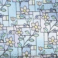 Superwoonwinkel Raamfolie Statisch Flowers - 92 CM Hoog