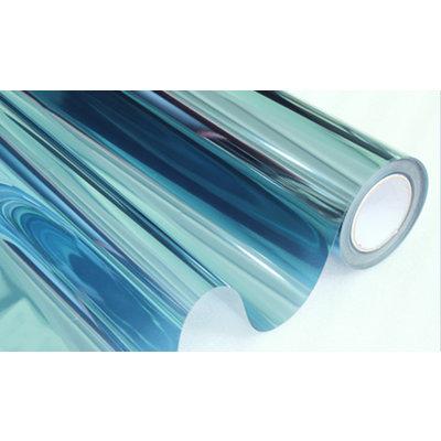 Zonwerende Raamfolie Statisch Blauw/Transparant - 152CM Breed
