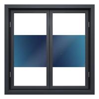 Zonwerende Raamfolie Statisch Transparant/Blauw - 90CM  Breed