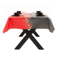 Gecoat Tafelkleed kerst Zwart Rood