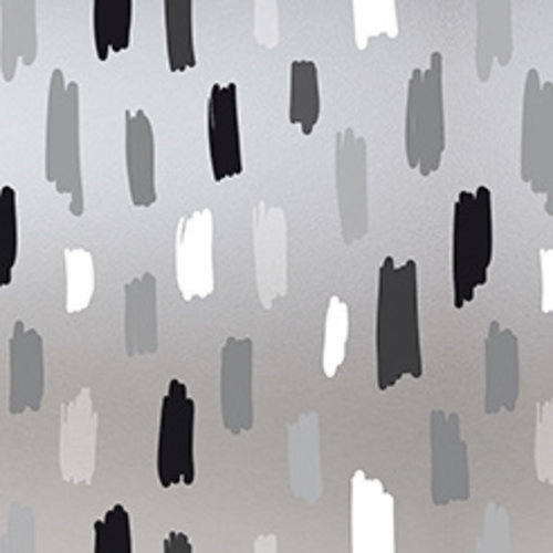 Raamfolie statisch-anti inkijk-Rayones grijs 46cm