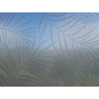 Raamfolie statisch-anti inkijk-Textiel Palms grijs 46cm Breed