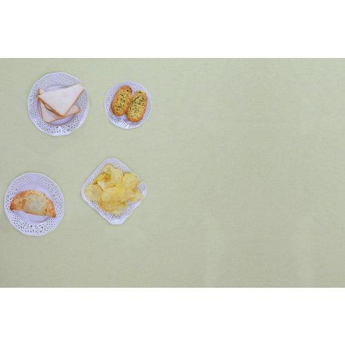Gecoat Tafellinnen Tabac Pistachio