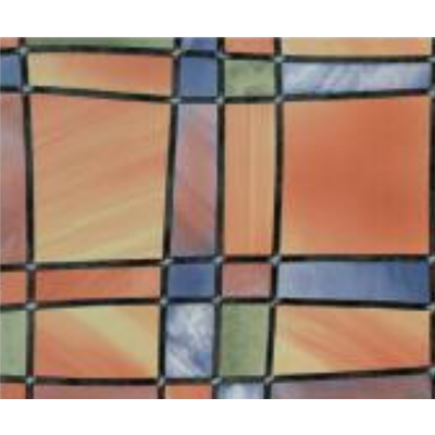 Plakfolie glas in lood - 45cm x 2m Transparant